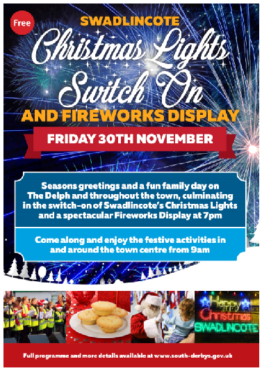 Swadlincote Christmas lights Switch On 2018